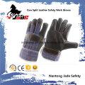 Luva de trabalho de segurança industrial de couro escuro