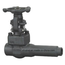 API602 Válvula de compuerta de extremo de soldadura de cuerpo extendido A105 de acero forjado