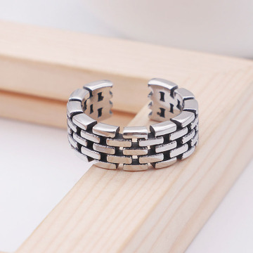Новый дизайн Hip Hop Open Cuff Chain Rings