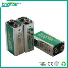 Bateria de alta capacidade 6f22 6lr61 9v de alta potência