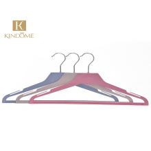 High quality biodegradable plastic suit garment hanger with printed logo