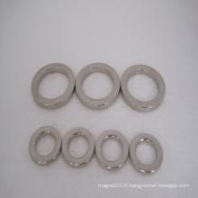 Aimants puissants de néodyme d'anneau avec adapté aux besoins du client