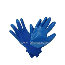Ladies Gardening Gloves Blue Nitrile Palm Coated Work Glove