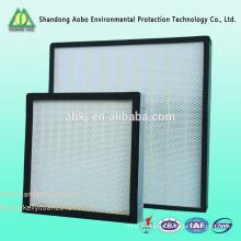 Filtros de aire HPA HEPA mini plisados para sala de limpieza