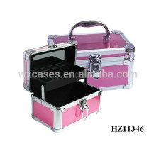 дешевый алюминиевый корпус тщеславия макияж с зеркалом и лоток внутри