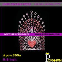 Pink heart flowers valentines pageants tiara Crown
