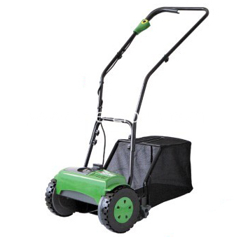 Cordless Cylinder Lawn Mower With Grass Catcher