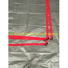 Red Silver PE Tarpaulin Sheet