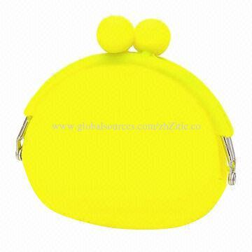 Silicone Change Purse, Measures 95*92*45mm