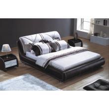 Mobília de quarto moderno, cama de couro (9038)