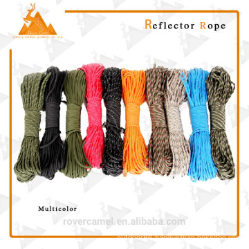 Outdoor 9core Usage Strong Reflective Tent Climbing Rope
