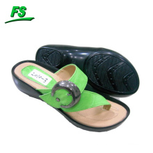 Hot selling PU ladies slipper with Rubber sole