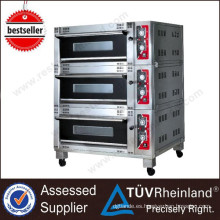 Equipo de restaurante comercial Luxury 3-Layer 6-Tray Electric 3 Deck Oven