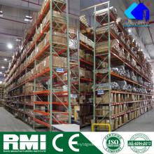 Rack de paletes de armazenamento de aço seletiva