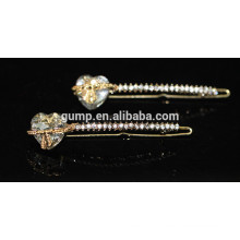 2015 Cute Bow Shiny Big Rhinestone Bobby pin Crystal Barrette