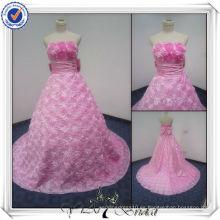 PP2411 Vestido de boda bling rosado del alibaba del diseñador de la muestra verdadera 2013