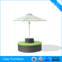 Middle Pole Outdoor Beach Umbrella With Seater