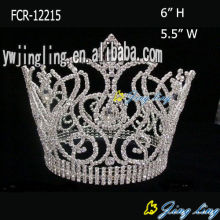 Venta al por mayor Crystal Rhinestone Beauty Queen Crowns