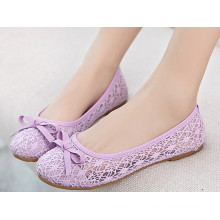 Simples e leve PVC Lady Causual Shoes
