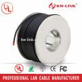 Cable 24AWG Cat5 CCA al aire libre, cable de red a granel con ce rohs