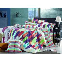 2014 новый роскошный мягкий простой элегантный пользовательский дизайн 100% хлопок реактивных печатных постели с эластичным
