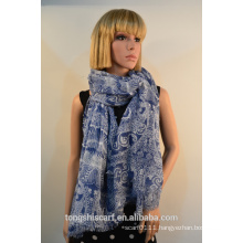 polyester printed rectangle scarf 164-01 YS419