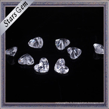 Belle forme de coeur zircon cubique pour les bijoux