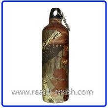 Бутылка воды алюминиевые бутылки путешествия с Carabina (R-4048)