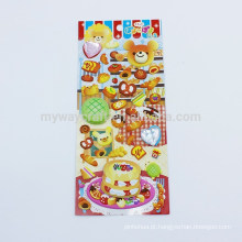 Série Kids Little Bear Animal Design Birthday Party Cute Diamond 3D Puffy Sticker