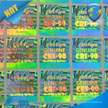 Benutzerdefinierte klare billige Hologramm Aufkleber / Anti gefälschte Aufkleber / Original Manipulation Beweis Hologramm Aufkleber