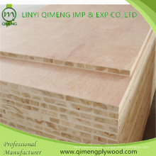 Nature Veneer or Melamine Paper Face 16-18mm Block Board Block Board Plywood with Furniture Useing