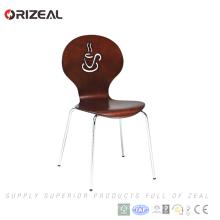Низкая цена деревянный стул stackable напольные стулья с металлическим нога ОЗ-1082