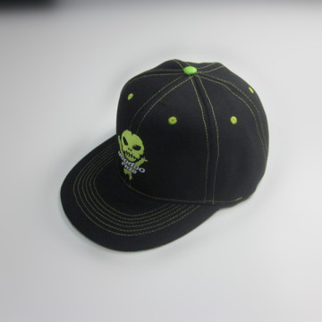 100 % Polyester Stickerei Flat Bill Cap