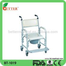 Chaise en coton en aluminium avec roues