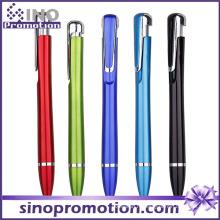 Обтекаемая Форма Дешевые Клип Шариковая Ручка Металлический Блеск Шариковая Ручка