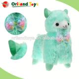 Colorful cute alpaca plush toy for kid fashion custom soft stuffed big eyes rainbow alpaca plush