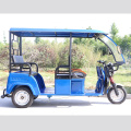 High speed semi-enclosed electric tricycle