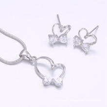 Heart shape design for women 2018 earring necklace jewelry sets