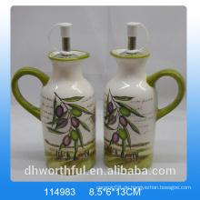 Hochwertiges keramisches Olivenöl und Essigflasche