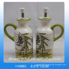 High-quality ceramic olive oil and vinegar bottle