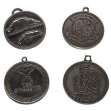 Custom Multi-Design Zinc Alloy Event Medals - Lanyard Available / Antique Pewter Plated
