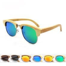 FQ marca de alta calidad personalizado polarizado hombre gafas de sol de bambú