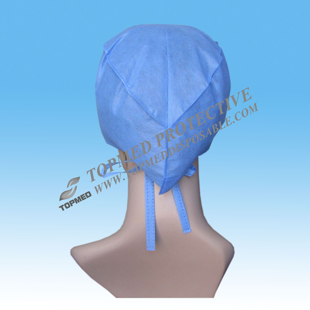 PP Doctor Cap with Tie on, Disposable Doctor Cap