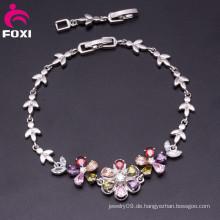 Elegantes Schmucksache-Entwurfs-Blumen-Form-Steine-Armband für Frauen