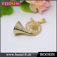 Gold Musical Instrument Necklace/Tuba Pendant Necklace #14680