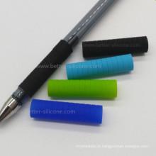 Capa de caneta de borracha de silicone antiderrapante ecológica personalizada com toque suave
