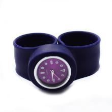 Fashion slap band silicone snap watch