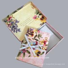 Flowers Keepsake Note Set Keepsake Box avec des notes et des enveloppes