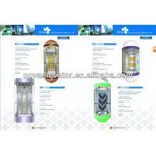 Elevador Panorâmico em Aço Inoxidável, Elevador Panorâmico Moderno