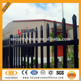 25mm*25mm picket Spear top black steel fence